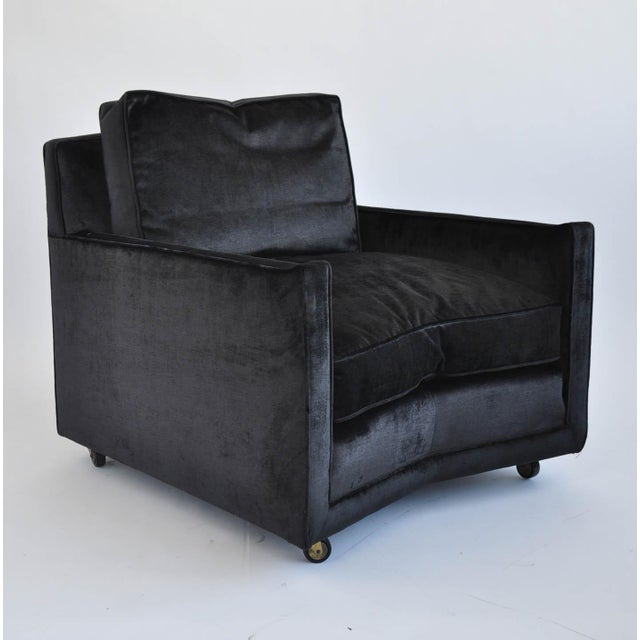 Baker Furniture Vintage Lounge Chair & Ottoman - Image 6 of 11
