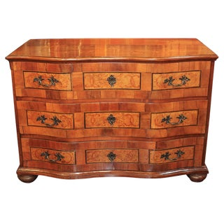 18th c. Italian Oak & Walnut Commode