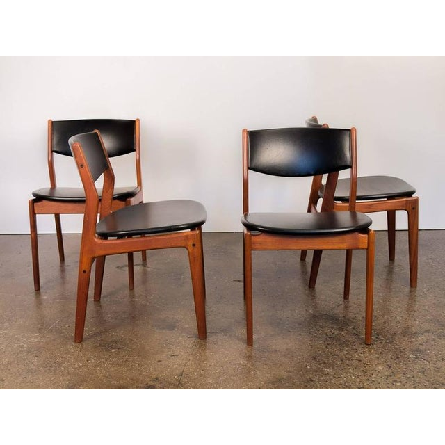 Four Scandinavian Teak Dining Chairs - Image 2 of 7