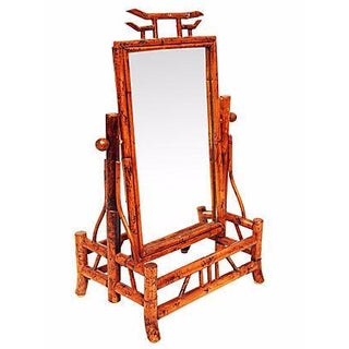 Chinoiserie Bamboo Style Tilting Mirror