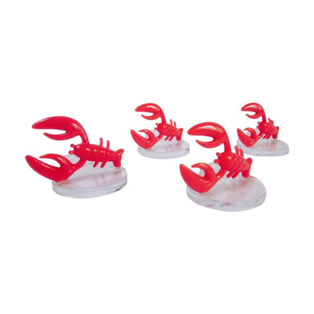 Lobster Lucite Place Card Holders - Set of 4 - Image 1 of 7