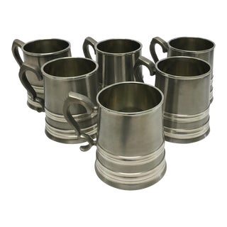 Brazilian Pewter Tankards - Set of 6