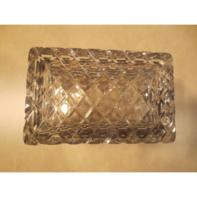 Image of Large Cut Glass & Brass Antique French Vanity Box