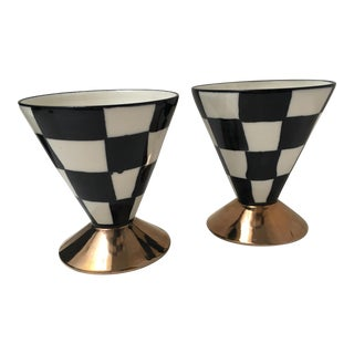 Vintage J. Packness Checkerboard Glasses - A Pair