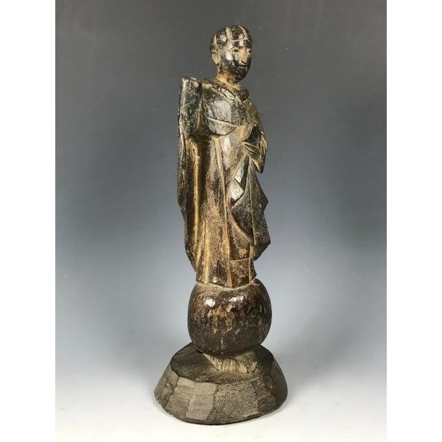 19th C. Carved San Vicente Ferrer Sculpture - Image 5 of 6