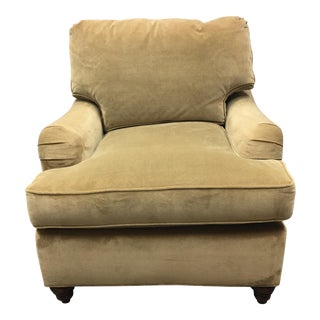 Hickory White English Warm Gold Velvet Armchair