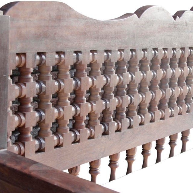 Hand-Carved Mousharabi Daybed - Image 6 of 6