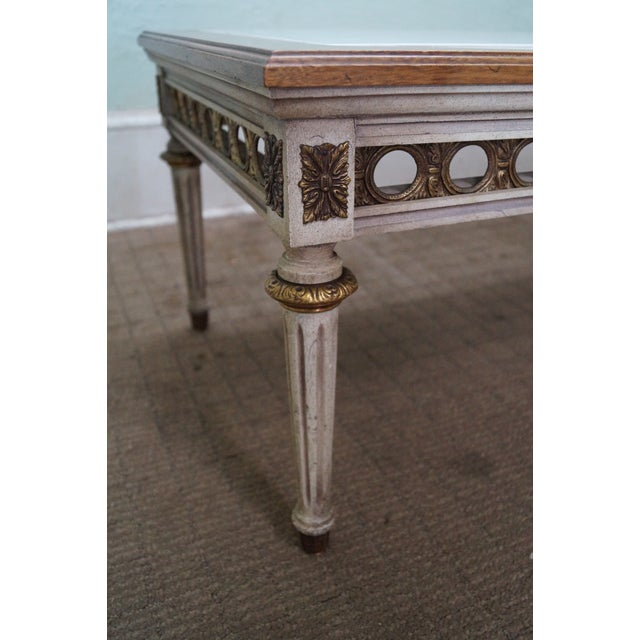 Louis Xvi Marble Coffee Table: French Louis XVI Style Marble Top Coffee Table