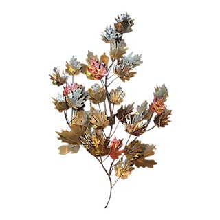 Curtis Jere Metal Leaf Wall Sculpture