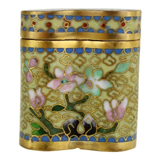 Antique 1800s Cloisonné Opium Box