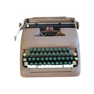 Mid-Century 1960s Smith-Corona Typewriter & Case