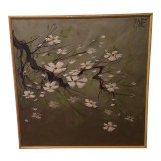 Rare McCaine Cherry Blossom Painting
