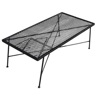 Russell Woodard Company Wrought Iron & Mesh Low Coffee Table