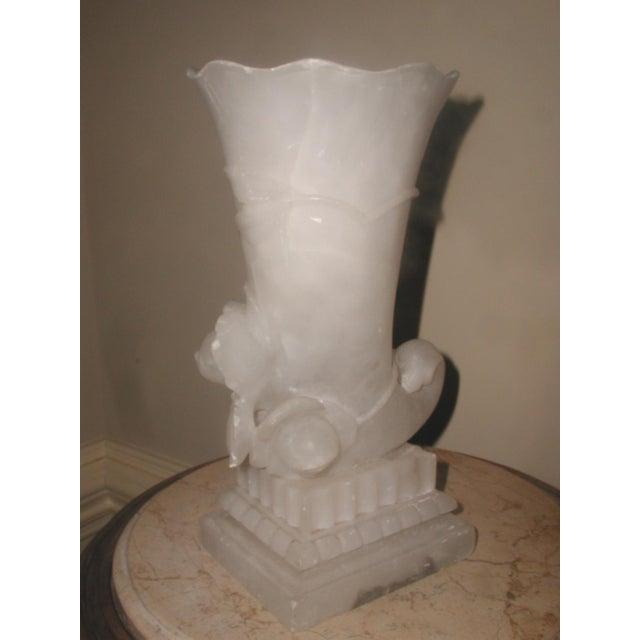 Alabaster Cornucopia Vase C.1900 - Image 3 of 10
