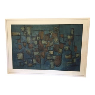 Abstract Mid-Century Signed Original Painting