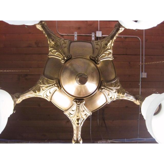 Original Pan Light Fixture (5-Light) - Image 6 of 8