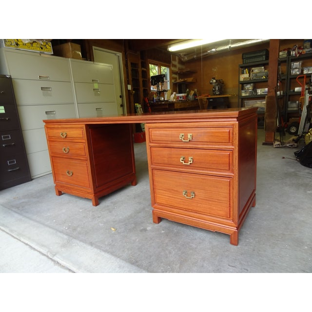 Solid Rosewood Credenza or Desk - Image 2 of 8