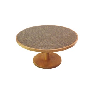 Vintage Round Martz Tile Top Coffee Table