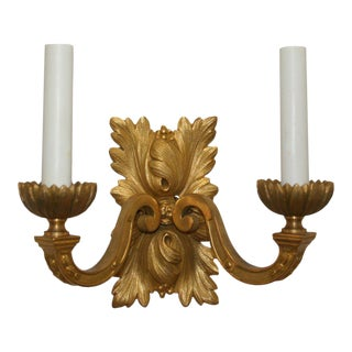 Gilt Bronze Louis XVI Style Sconces - A Pair