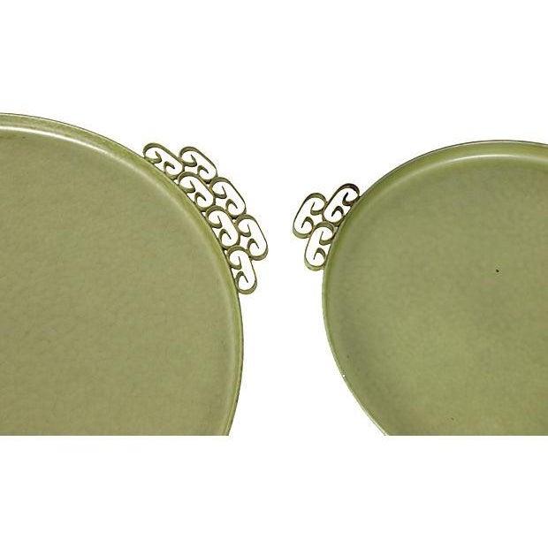 Image of Green Kyes Pasadena Round Trays - Pair