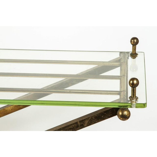 Brass & Glass Tray Coffee Table - Image 4 of 8