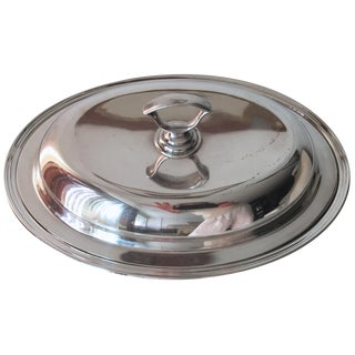 Vintage Meriden Silver Covered Serving Dish