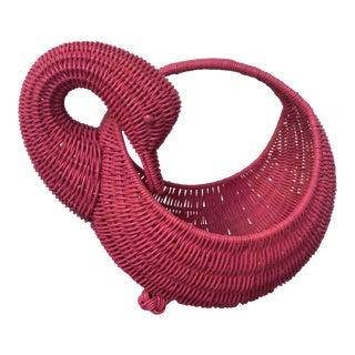 Red Swan Basket