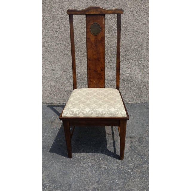 Image of Asian Chinoiserie Style Dining Chairs - Set of 6