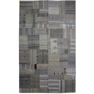 "Hand Knotted Antique Patchwork Kilim - 12'6"" X 8'3"""