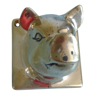 Vintage Brass Pig Hook