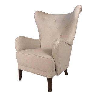 Danish Modern Wingback Chair