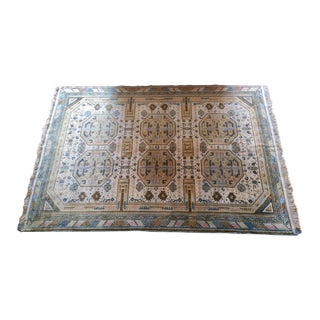"Handwoven French Wool Rug - 75"" X 116"""