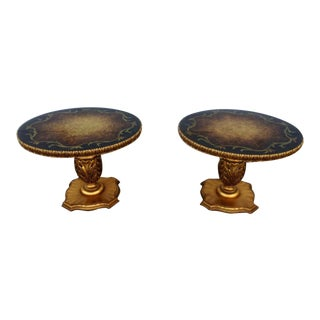 Vintage Gold Gilt Side Tables - A Pair