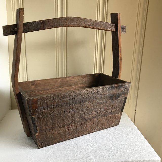 Primitive Rustic Wood Box - Image 9 of 11