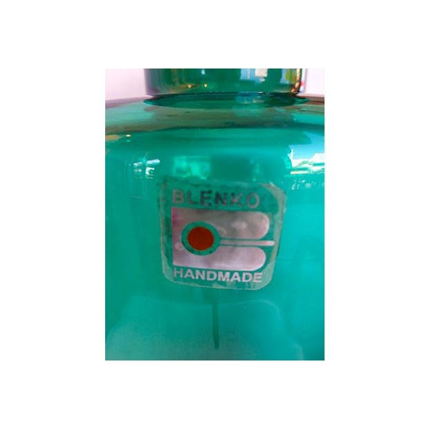 Blenko Handmade Deep Green Vase - Image 4 of 4