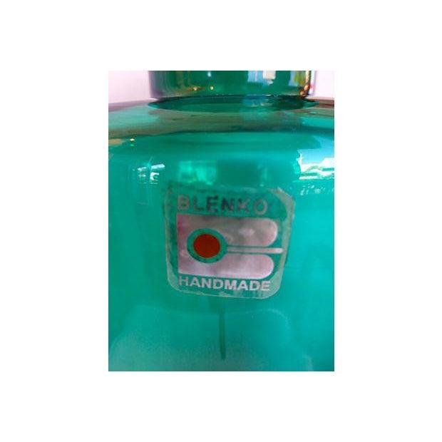 Image of Blenko Handmade Deep Green Vase