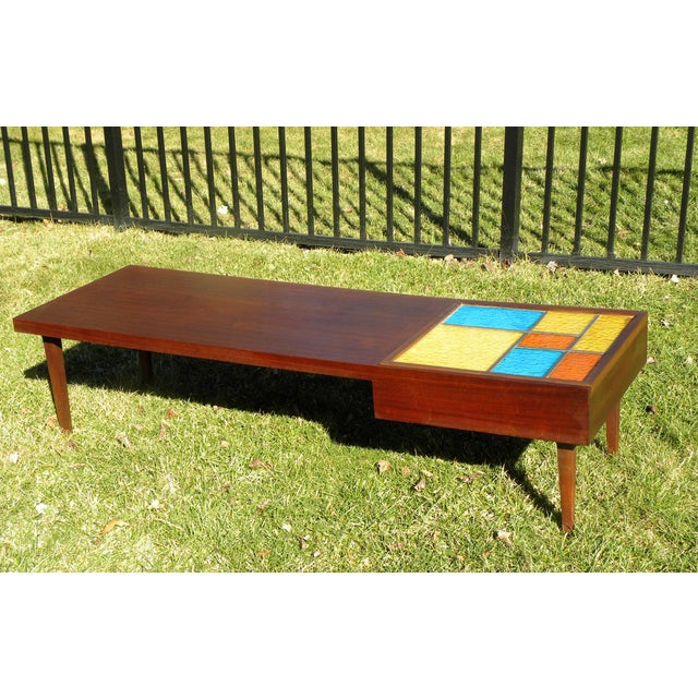 Mid-Century Coffee Table W/ Built-In Fondue Stove - Image 4 of 8