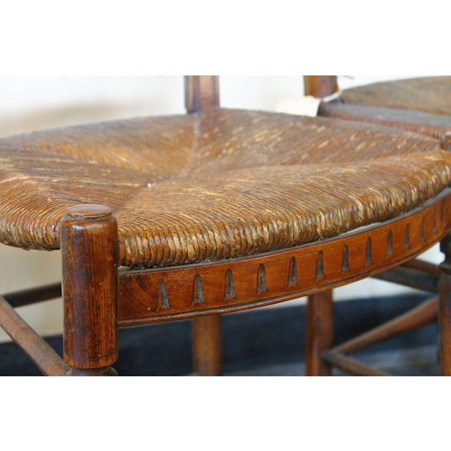 Antique Petite French Dining Chairs - A Pair - Image 4 of 4