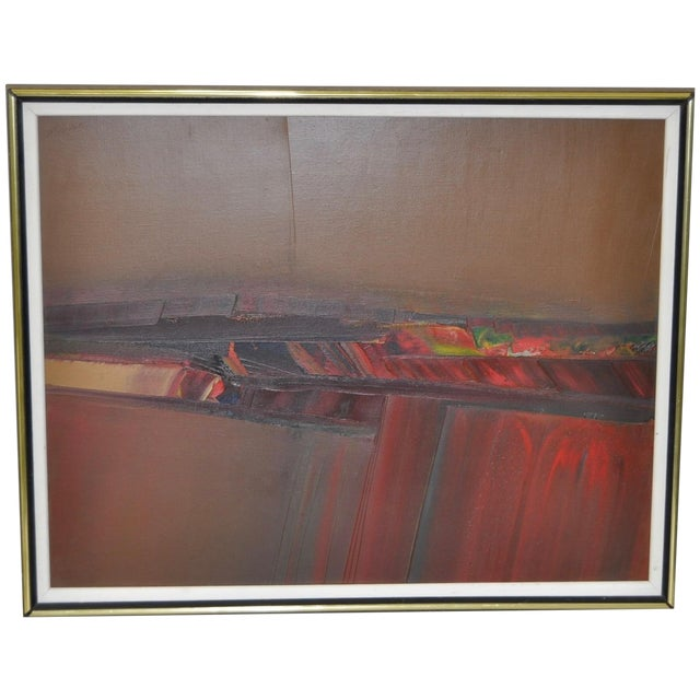 Image of Don Clausen Abstract Expressionist Painting C.1980