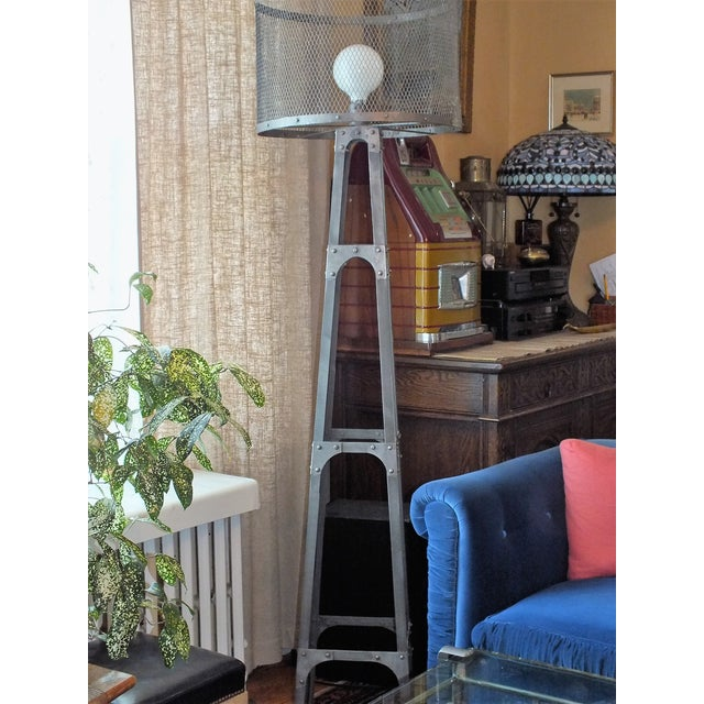 Recycled Industrial Style Floor Lamp - Image 2 of 8