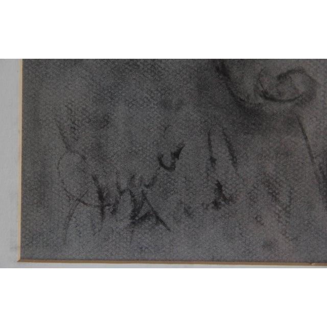 Image of Framed Original Charcoal Elephant Sketch