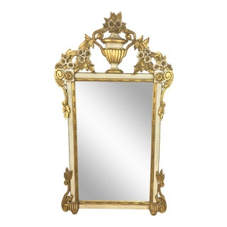 1960s Italian Carved Giltwood Mirror