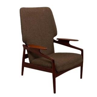Finn Juhl Style Reclining Wingback Chair