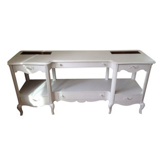 Vintage French Provincial Console in Ivory