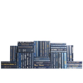 Modern Navy Book Wall, S/50