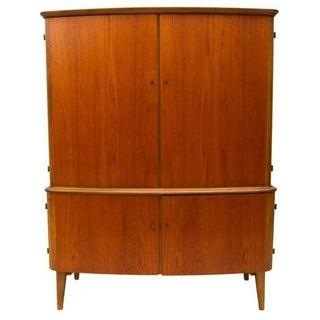 Rare Danish Modern Teak Armoire - Bar Cabinet