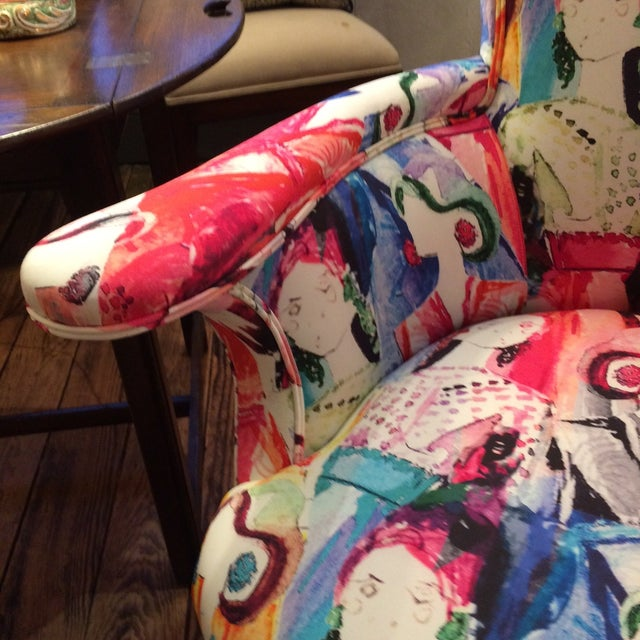 Oly Upholstered Armchairs - Pair - Image 5 of 6