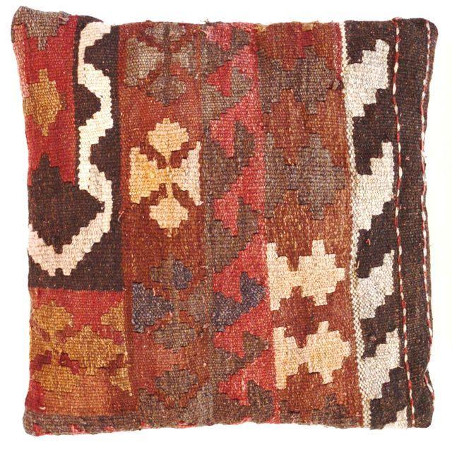 Turkish Kilim Pillows - Set of Three - Image 4 of 5