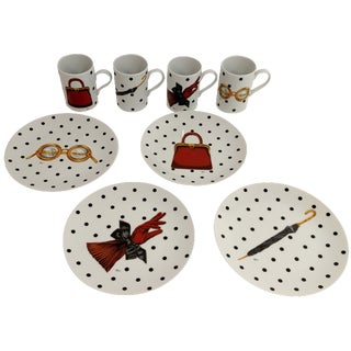 Christian Dior Mugs & Dessert Plates - Set of 8