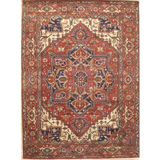 Pasargad N Y Hand-Knotted Serapi Rug - 9' X 12'